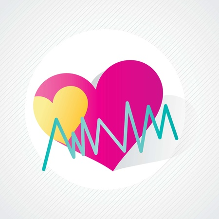 Colorful Healthy Heart, Hospital Icons, on grey background Stock Vector - 17978166