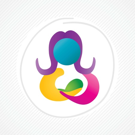Hospital Icons (pregnancy assistance), colorful concept Stock Vector - 17978032