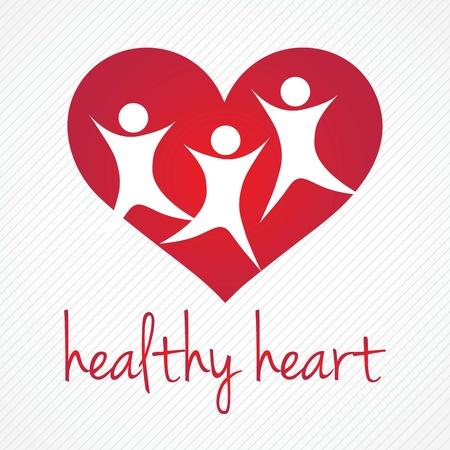 Healthy Heart, Hospital Icons, on grey background Vector