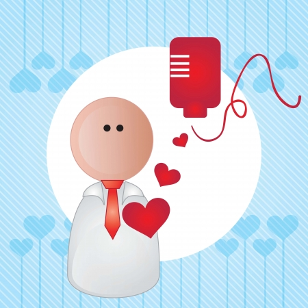 Hospital Icons  (blood transfusion) On blue background Vector