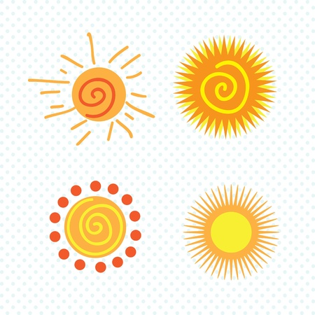 Spring Icons suns, on white background.Vector Illustration Stock Vector - 17978453
