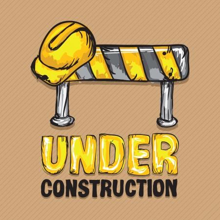 hard cap: Construction Icons (Hard cap, traffic sign), Vector illustration
