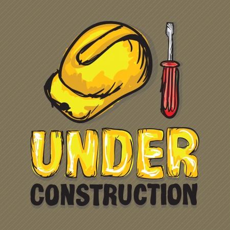 Construction Icons (Hard cap,screwdriver), Vector illustration Stock Vector - 17978556