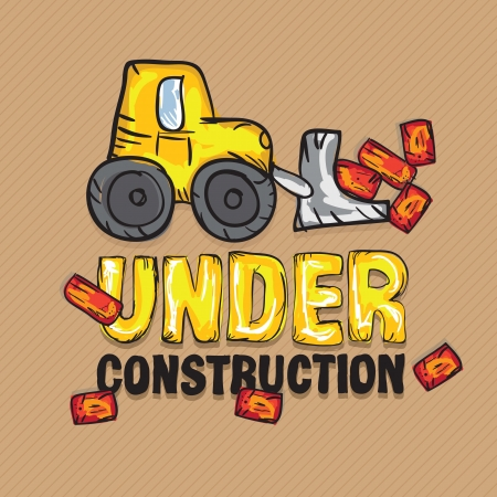 Construction Icons Truks ( Under construction Backhoe loader). Vector illustration Vector