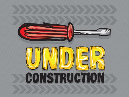 constrution: Under constrution Icons, of different tools (screwdriver). Vector illustration