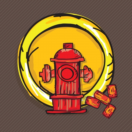 Construction Icons ( bricks, hydrant). Vector illustration Vector