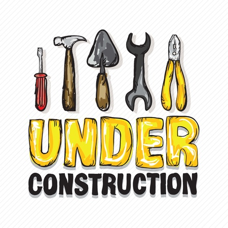 Under constrution Icons, of different tools. Vector illustration Stock Vector - 17978578