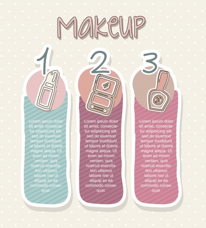 makeup icons over beige background. vector illustration   Vector