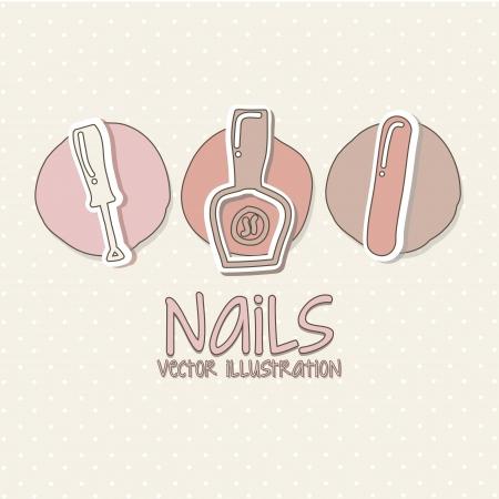 manicure e pedicure set con colori rosa.