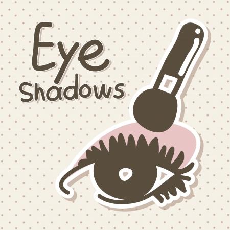 eyeshadows over beige background vector illustration Vector