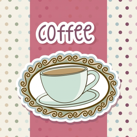 coffee cup illustration over beige background. vector Vector