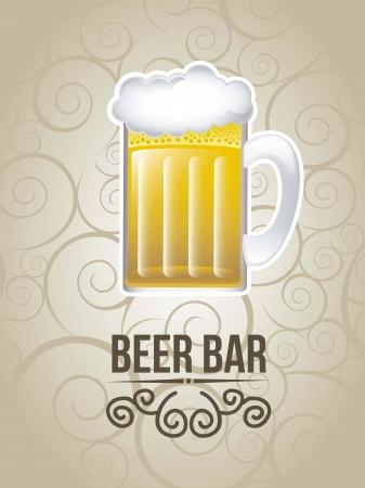 bar label over vintage background. vector illustration Stock Vector - 18073667