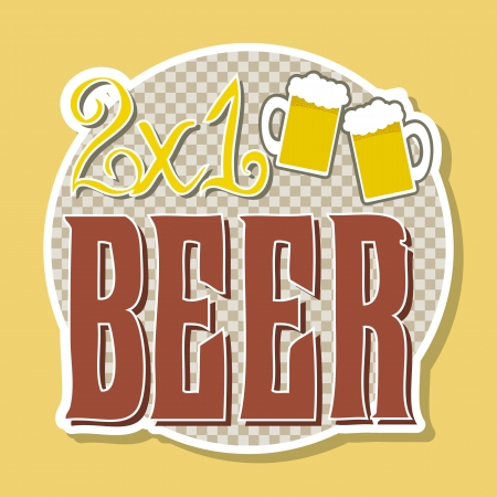 bar label over yellow background. vector illustration Stock Vector - 18073627