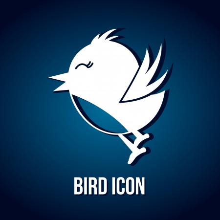 bird icon over blue background. vector illustration Vector