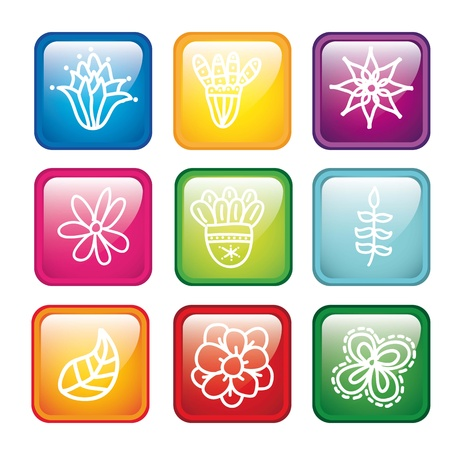 flowers icons over white background. vector illustration Stock Vector - 18073635