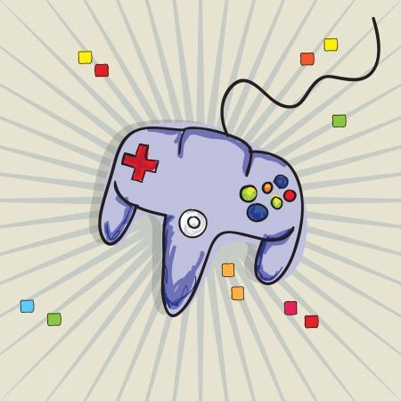 Video Games Icon ( Retro control), on vintage background. Vector Stock Vector - 18210925