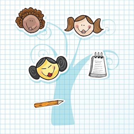 Illustration of kids icons, kids groups, vector illustration Stock Vector - 18211128