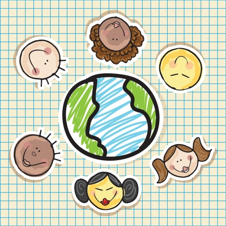 Illustration of kids icons, kids groups, vector illustration Vector