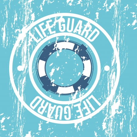 life guard: life guard seal over blue background. vector illustration Illustration
