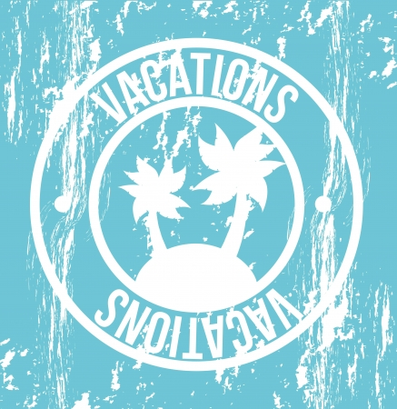 vacations seal over blue background. vector illustration Stock Vector - 18211675