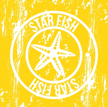 starfish seal over yellow background. vector illustration Stock Vector - 18211680
