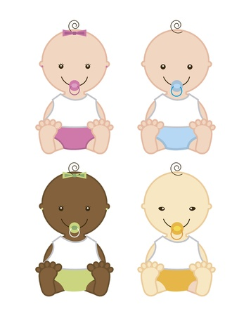 baby isolated over white background. vector illustration  Vector