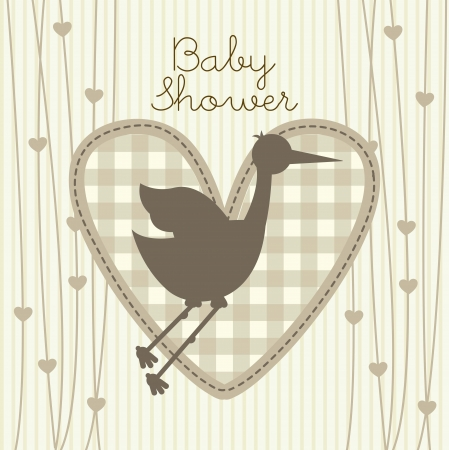 baby shower over beige background. vector illustration Stock Vector - 18211810