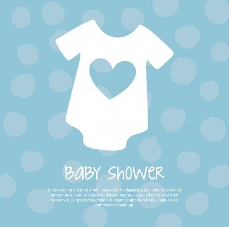 baby background: baby shower card over blue background. vector illustration