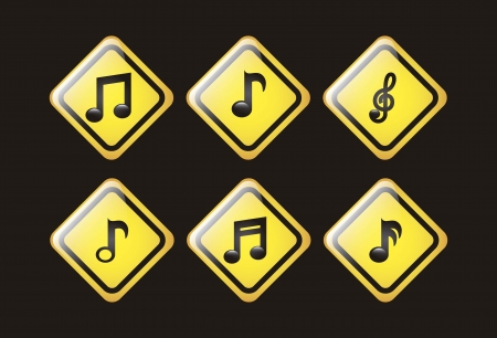 music icons over black background. vector illustration Stock Vector - 18211793