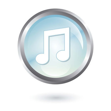 music button over white background. vector illustration Stock Vector - 18211656