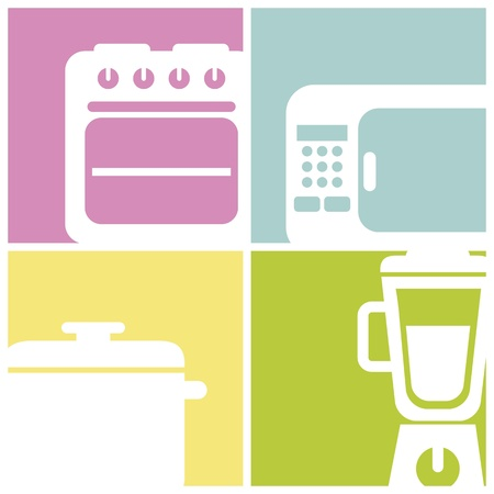 kitchen icons over  square background. vector illustration Vector