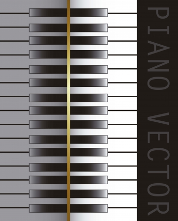 acoustically: piano over black background, music. vector illustration