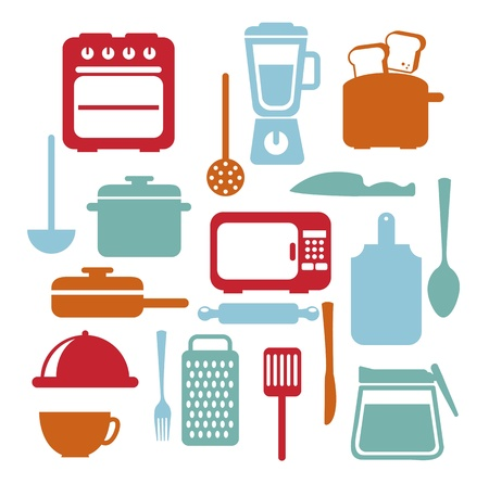 kitchen icons over white background. vector illustration Stock Vector - 18211846