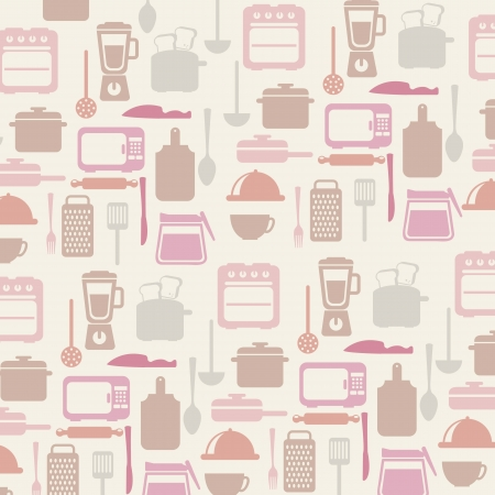 kitchen icons over white background. vector illustration Vector