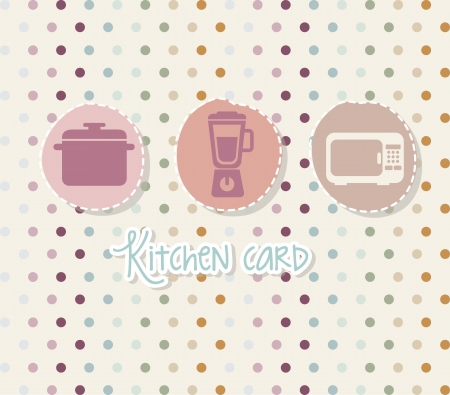 kitchen icons over beige background. vector illustration Stock Vector - 18211806