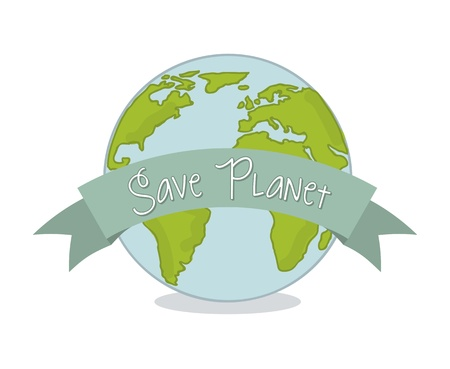 save planet over white background. vector illustration Stock Vector - 18333661