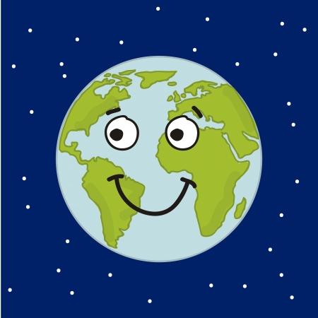 planet cartoon over blue background. vector illustration Vector