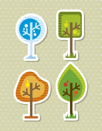 arbor day over beige background. vector illustration Vector