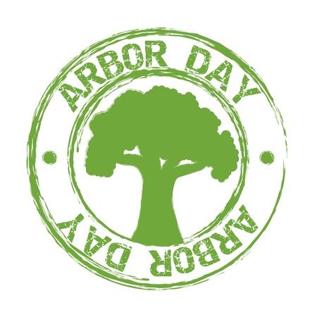 arbor: arbor day over white background. vector illustration