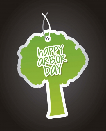arbor day over black background. vector illustration Vector