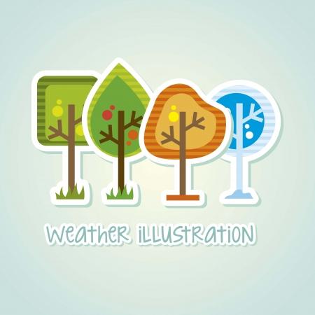 arbor day over white background. vector illustration Stock Vector - 18333745