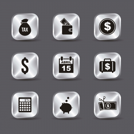 tax icons over gray background. vector illustration Stock Vector - 18333908