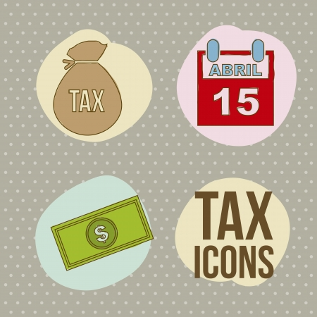 tax icons over  brown background. vector illustration Stock Vector - 18333877