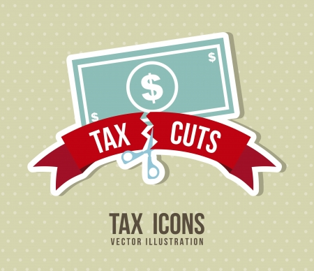 car bills: tax icon over beige background. vector illustration Illustration