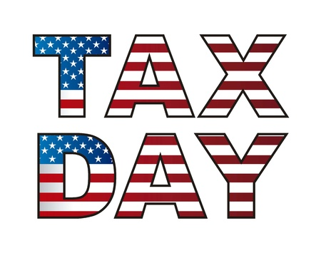 tax day isolated over white background. vector illustration