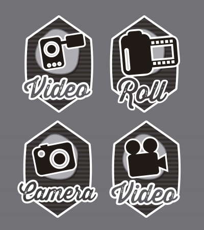 video icons over gray background. vector illustration Vector