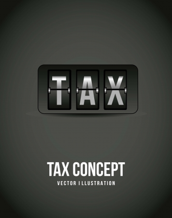 fiscal: tax icon over gray background. vector illustration