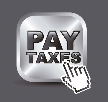 fiscal: taxi icon over gray background. vector illustration