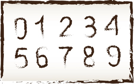 Vintage numbers over vintage background vector illustration Stock Vector - 18445834