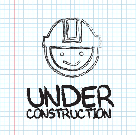 Under construction face over paper background vector illustration Stock Vector - 18445885